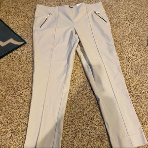 Skinny ankle pants - Cream - Size 20